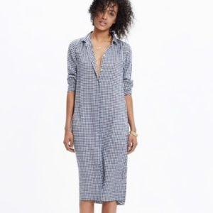 Madewell gingham midi dress